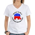 Florida Republican Pride Women's V-Neck T-Shirt