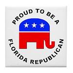 Florida Republican Pride Tile Coaster