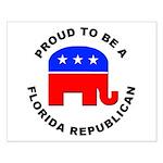 Florida Republican Pride Small Poster