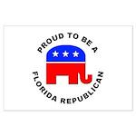 Florida Republican Pride Large Poster