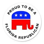 Florida Republican Pride Round Car Magnet