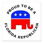 Florida Republican Pride Square Car Magnet 3