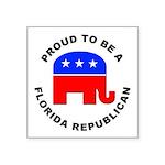 Florida Republican Pride Square Sticker 3