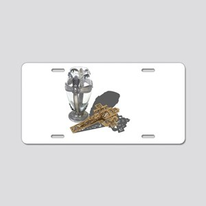 Chalice and Crucifix Aluminum License Plate