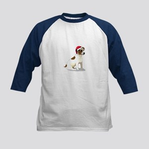 Christmas Jack Russell Terrier Kids Baseball Jerse