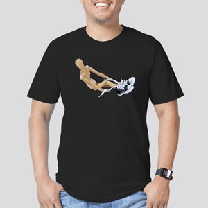 Tying Shoes Men's Fitted T-Shirt (dark)