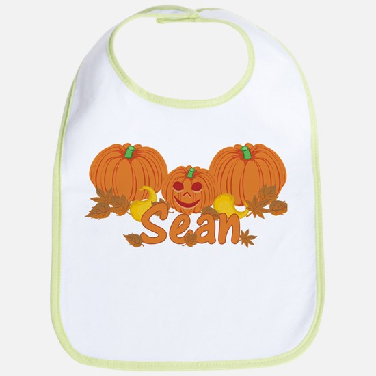 Halloween Pumpkin Sean Bib