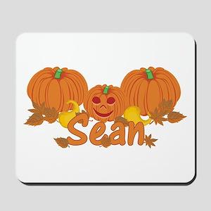 Halloween Pumpkin Sean Mousepad