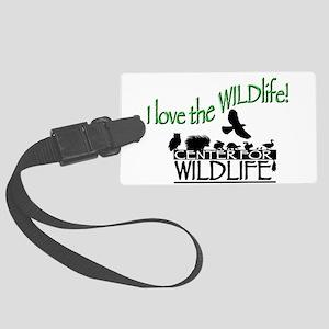 I love the Wildlife logo Large Luggage Tag