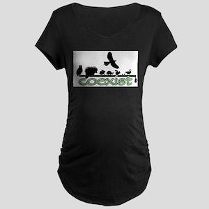 cfw coexist art Maternity Dark T-Shirt
