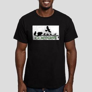 cfw coexist art Men's Fitted T-Shirt (dark)
