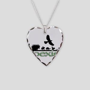 cfw coexist art Necklace Heart Charm