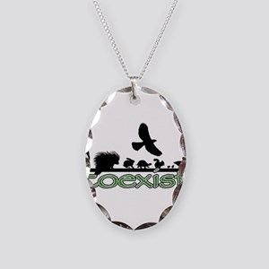 cfw coexist art Necklace Oval Charm