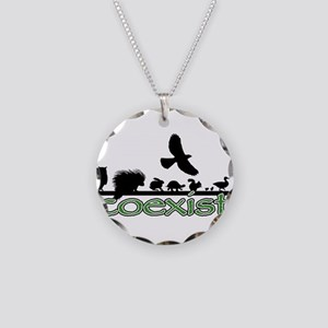cfw coexist art Necklace Circle Charm