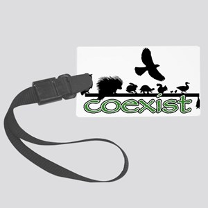 cfw coexist art Large Luggage Tag