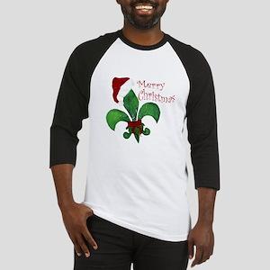 Merry Christmas Fleur de lis Baseball Jersey