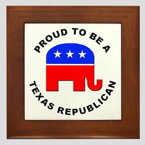Texas Republican Pride Framed Tile