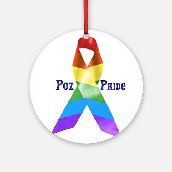 Poz + Proud Ornament (Round)