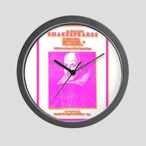 Folio Pink Wall Clock