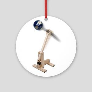 World War Catapult Ornament (Round)