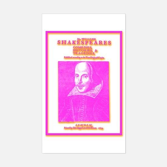 Folio Pink Rectangle Decal