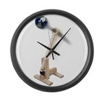 World War Catapult Large Wall Clock