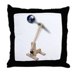 World War Catapult Throw Pillow