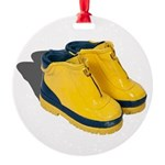 Rubber Boots Round Ornament