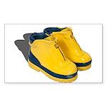 Rubber Boots Sticker (Rectangle 50 pk)