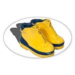 Rubber Boots Sticker (Oval 10 pk)