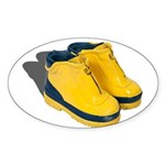 Rubber Boots Sticker (Oval)