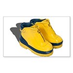 Rubber Boots Sticker (Rectangle)