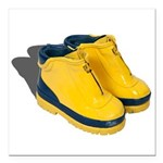 Rubber Boots Square Car Magnet 3