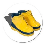 Rubber Boots Round Car Magnet