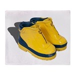 Rubber Boots Throw Blanket