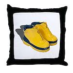 Rubber Boots Throw Pillow