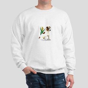 Jack Russell Terrier with Flower Sweatshirt