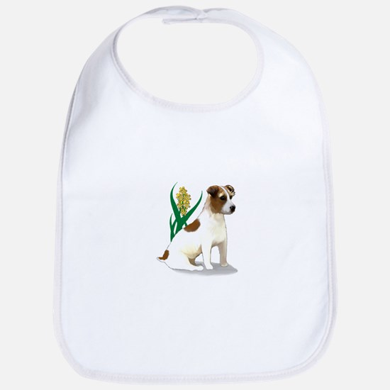 Jack Russell Terrier with Flower Bib