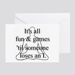 It's all fun & games... Greeting Cards (Package of