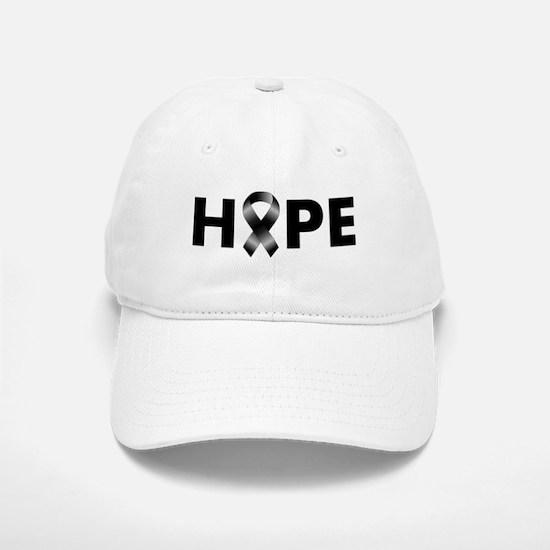 Black Ribbon Hope Baseball Baseball Cap