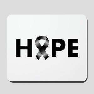 Black Ribbon Hope Mousepad