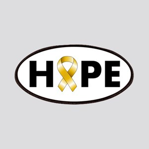 Gold Ribbon Hope Patches