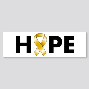 Gold Ribbon Hope Sticker (Bumper)