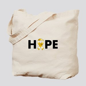 Gold Ribbon Hope Tote Bag
