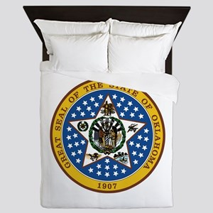Oklahoma State Seal Queen Duvet