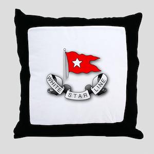 White Star Line Throw Pillow