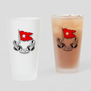 White Star Vlogger Logo Drinking Glass