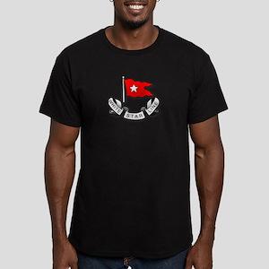 White Star Vlogger Logo Men's Fitted T-Shirt (dark