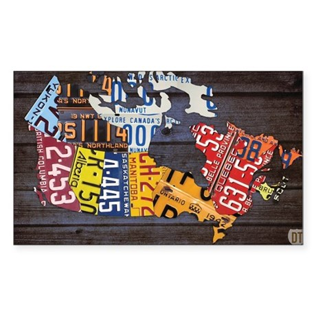 License Plate Map of Canada by Design Turnpike Sti