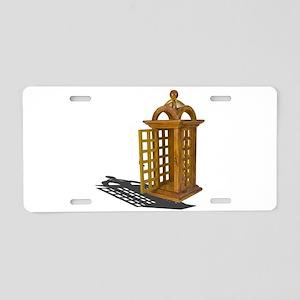 Open door phone booth Aluminum License Plate